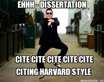 Dissertation Harvard System