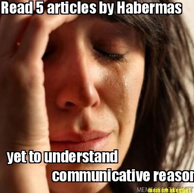 To understand communicative reason re caption this meme advertisement