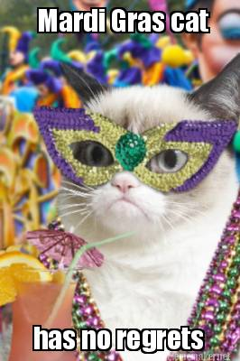Image result for mardi gras no regrets