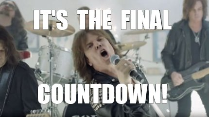 Image result for final countdown meme
