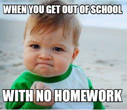 Image result for homework and school memes