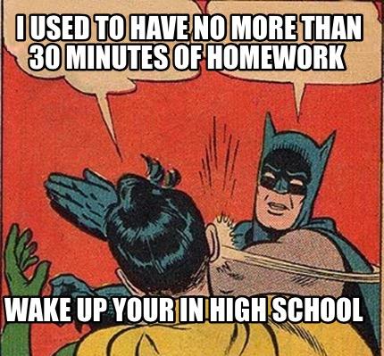 high school no homework policy