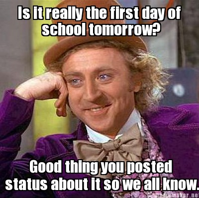 Is it really the first day of