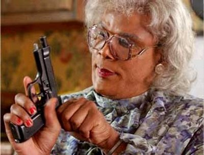 Image result for madea with a gun